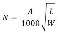 формула расчета количества датчиков