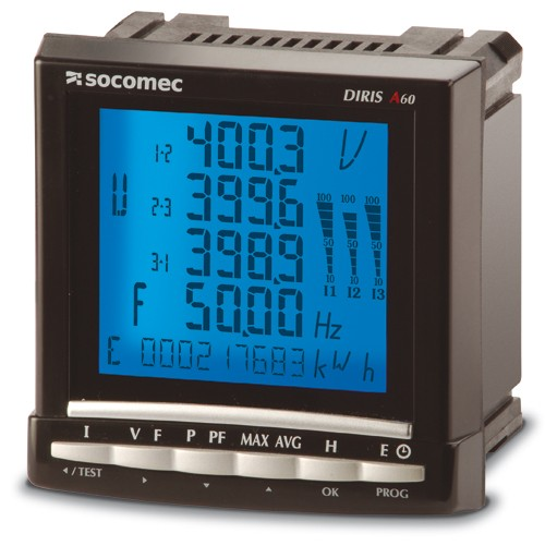 DIRIS A60 - Анализатор качества электроэнергии, контроль показателей качества электроэнергии