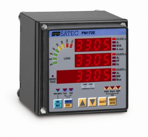 PM172E - Регистратор напряжения и тока SATEC, Учет электроэнергии.